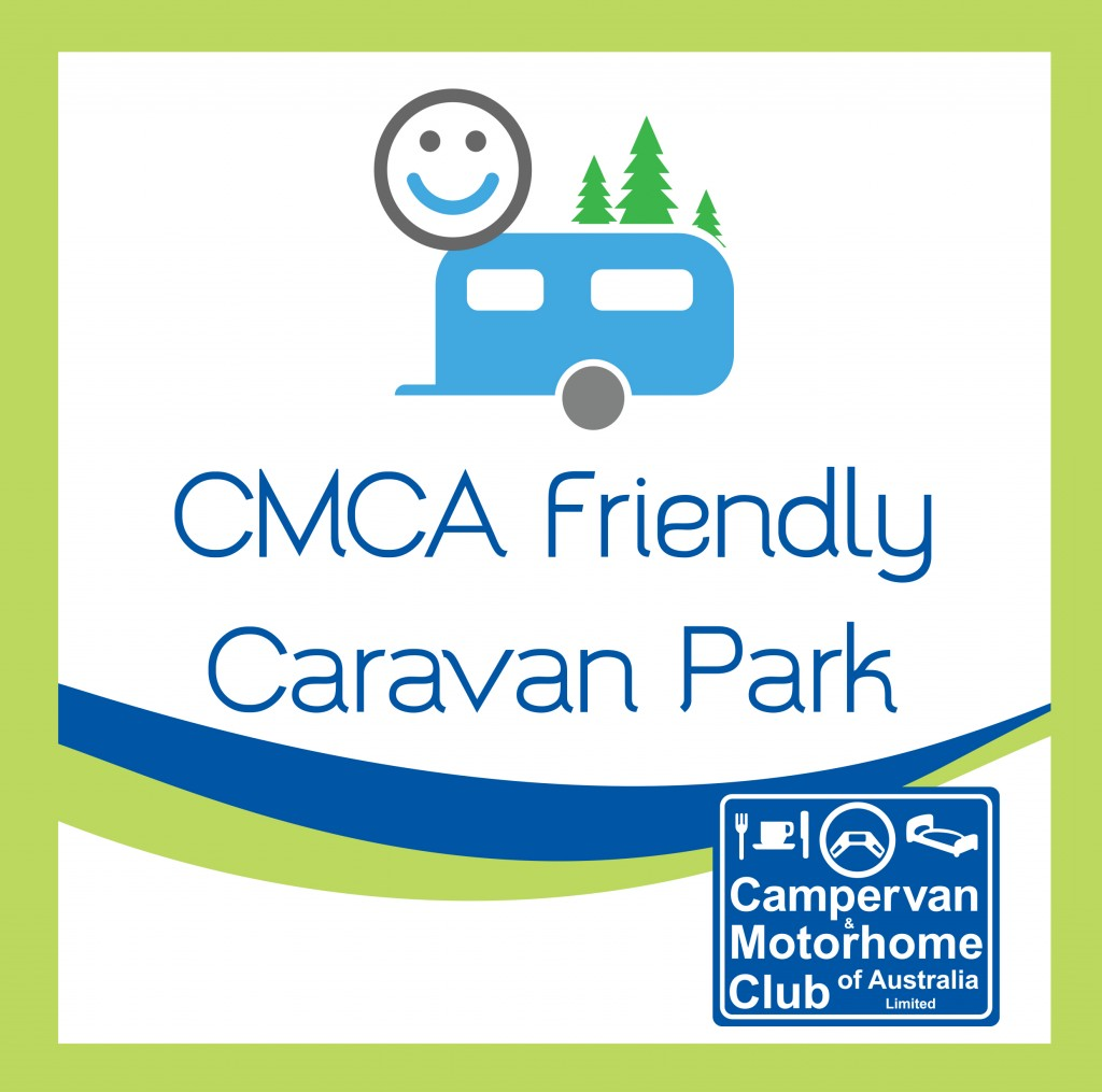 CMCA Friendly Caravan Park Sticker